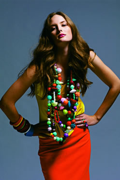 Dinosaur Designs, Gumball and Space Wabi Necklaces, Bangles, Spot Rings, 2005. Resin and leather. Photo: Stephan Ward